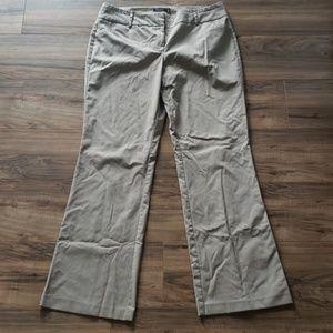 NY & Company Tan Pin Stripe Dress Pants